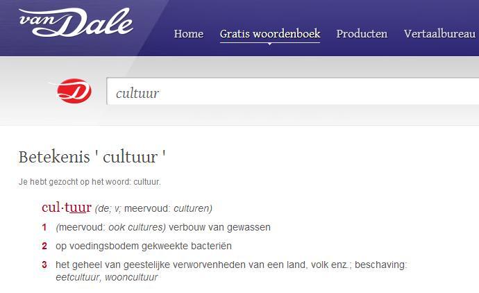 Cultuur Van Dale2