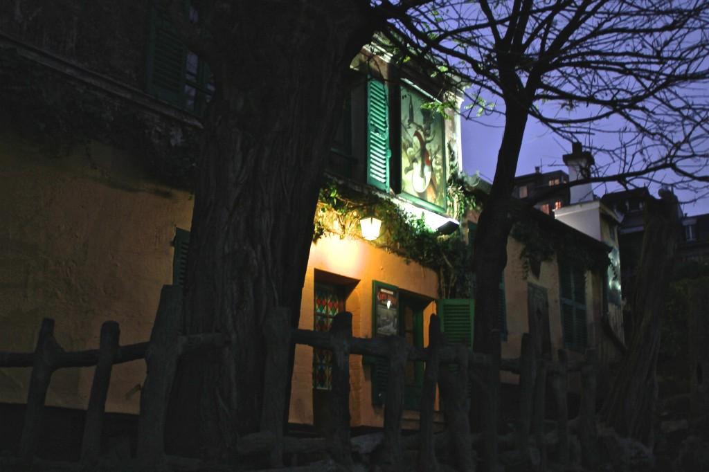Café aan de rand van Montmartre