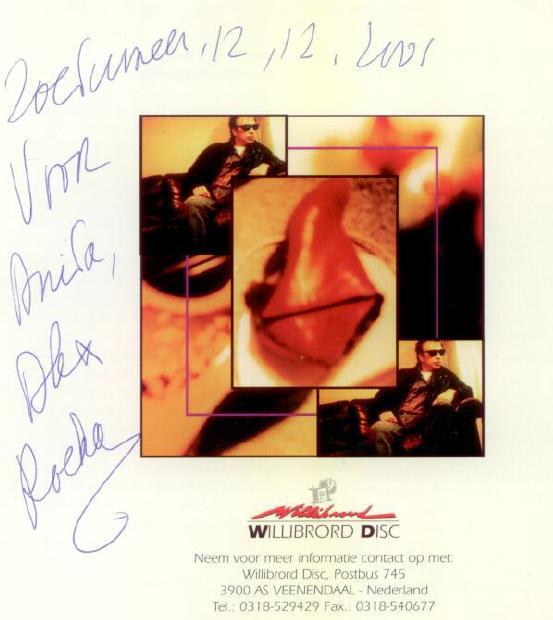 Alex gesigneerde CD 12-12-2001 Zoetermeer