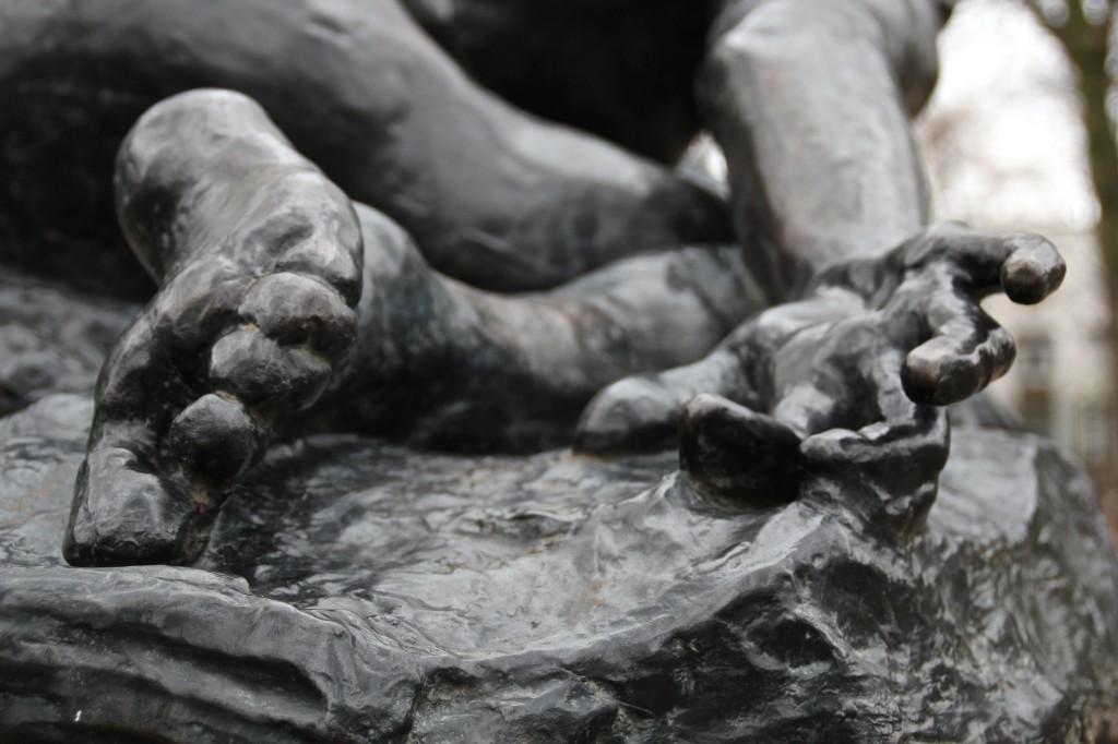 Detail voet en hand