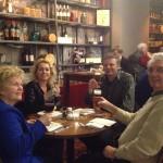 Tante Ivonne, Machteld, Edje en Ome Jan...PROOST!