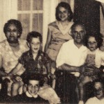 (v.l.n.r.) Oma Bermonville, Ome André, Tante Pie, Raymonde, Opa, Tante Lile, Ome Beer
