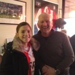 17 december 2013: Estelle met Ruud in de skybox van Jordex bij Feyenoord-FC Groningen