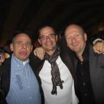 Rhoon, 25 september 2010: Lex, Marco en Ruud op een fijn bedrijfsfeestje...