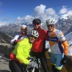 Marco, Frank (geel jasje), Bret en Norbert