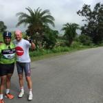 Met Arvind bij de finish