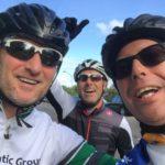 Met fietsmaten Ruud (l) en Ron (m)