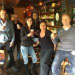 In Café De Smed (v.l.n.r.) Marc, Carlos, Yolanda, Erwin, Anita, Guido